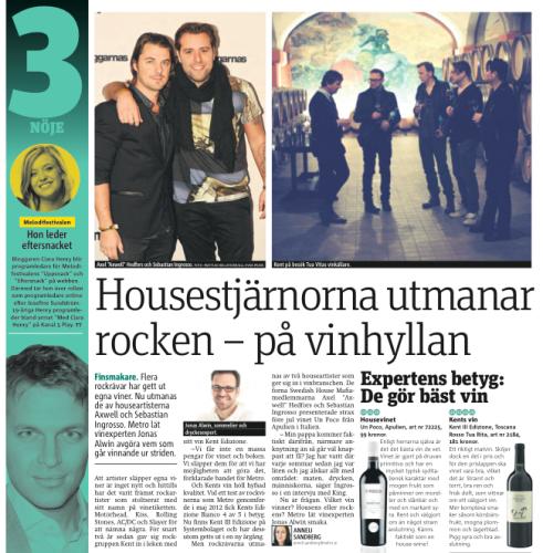 Metro tisdagen 14/1 2014.